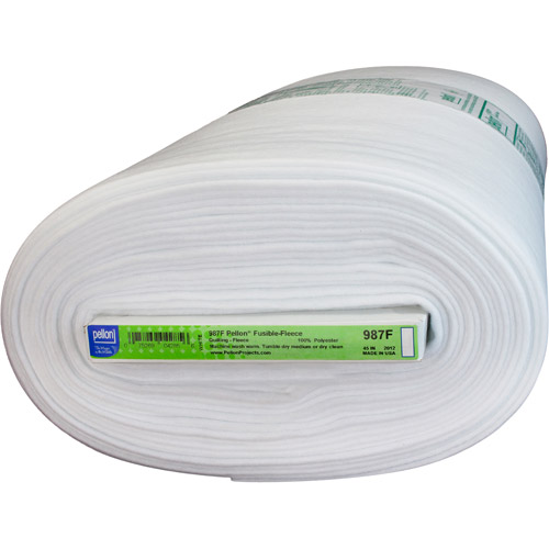 "Pellon Fusible Fleece, White, 45"" x 10 Yard Bolt"