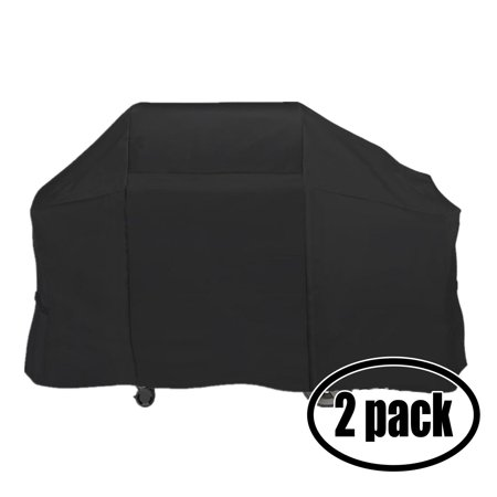 2-Pack Gas Grill Cover Heavy Duty Waterproof Replacement for Weber GENESIS 5000 NG FIXED PROPANE - 61 inch L x 22 inch W x 37 inch H