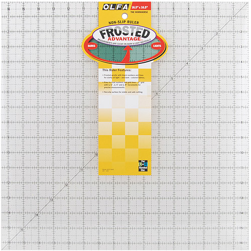 "OLFA Frosted Advantage Non-Slip Ruler, ""The Workhorse"""