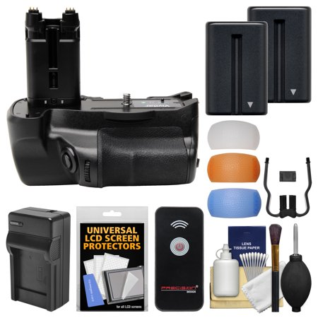 Get Vivitar VG-C77AM Multi-Power Battery Grip for Sony Alpha A77 & A77 II DSLR Cameras + 2 NP-FM500H Batteries & Charger + 3 Flash Diffusers + Remote Kit Before Special Offer Ends