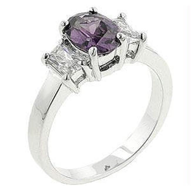 Lilac Engagement Ring, <b>Size :</b> 10