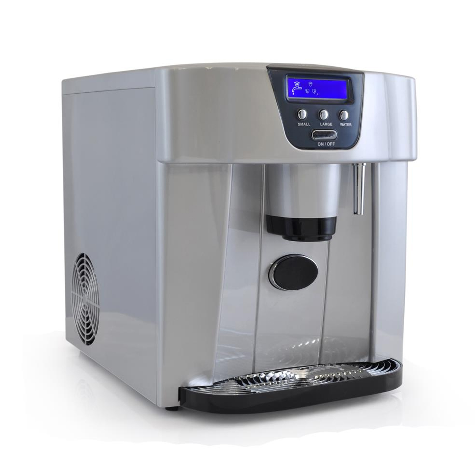 Nutrichef Ice Maker & Dispenser, Countertop Ice Cube Making Machine (2 Sizes of Ice Cubes)