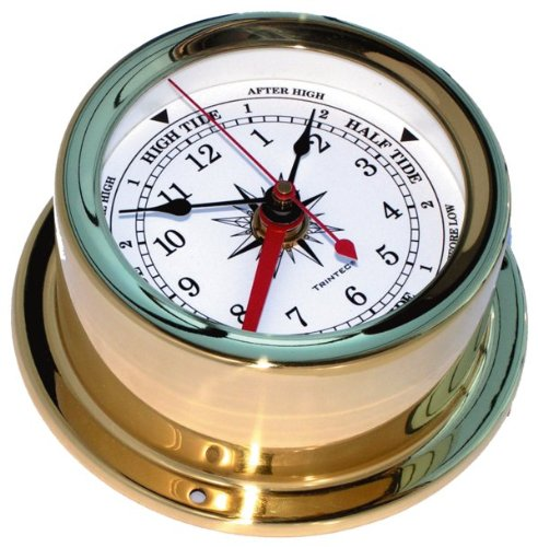 Trintec Euro Brass Time & Tide Clock