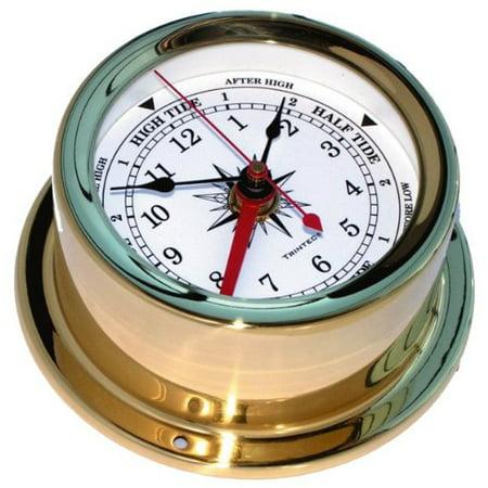 Euro Brass Time & Tide Clock Brass Clock Chart Weight