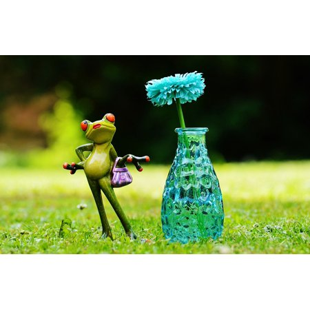 LAMINATED POSTER Cute Vase Meadow Sweet Frog Funny Flower Fig Poster Print 24 x 36