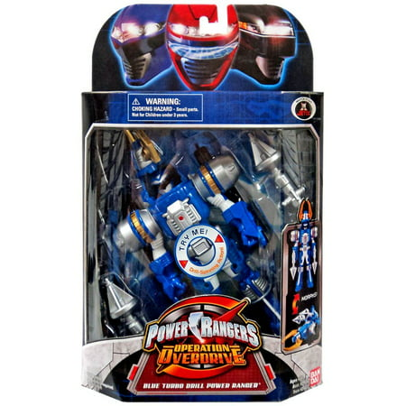 Power Rangers Operation Overdrive Blue Turbo Drill Power Ranger Action Figure (Blue Turbo)