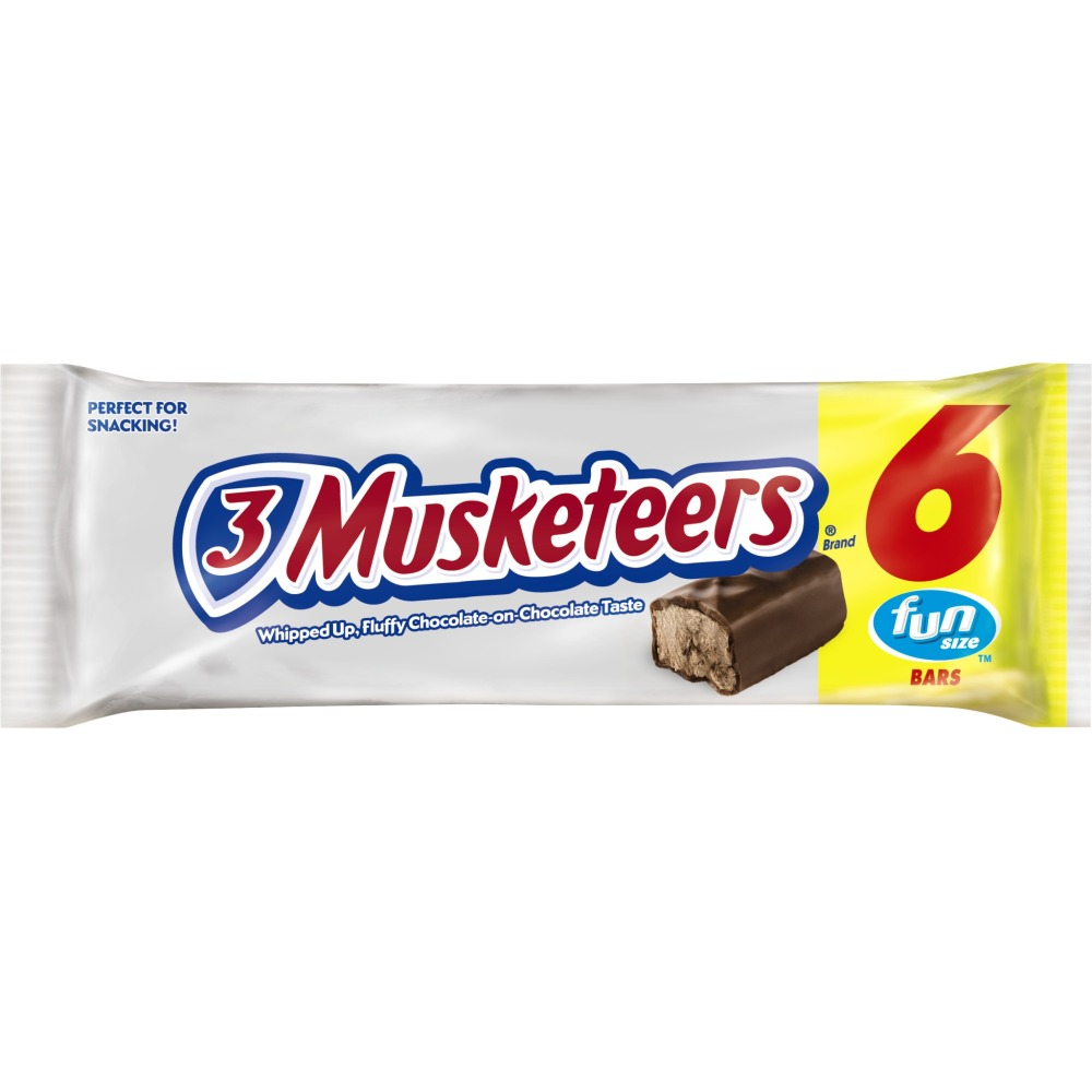 3 MUSKETEERS Chocolate Fun Size Chocolate Bars Candy Pack, 2.93 oz 6 Pack