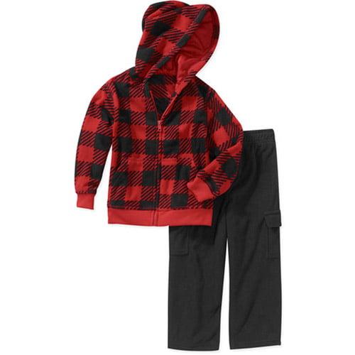 Garanimals Baby Boys' 2-Piece Printed Fleece Hoodie and Pant Set