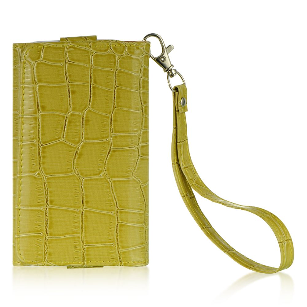 """Insten Universal Wallet-Style Carrying Case Compatible with 4"""" to 5"""" Smartphones, Green Crocodile - image 3 de 3"""