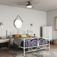 DHP Bombay Metal Bed, Queen Bed Frame, White