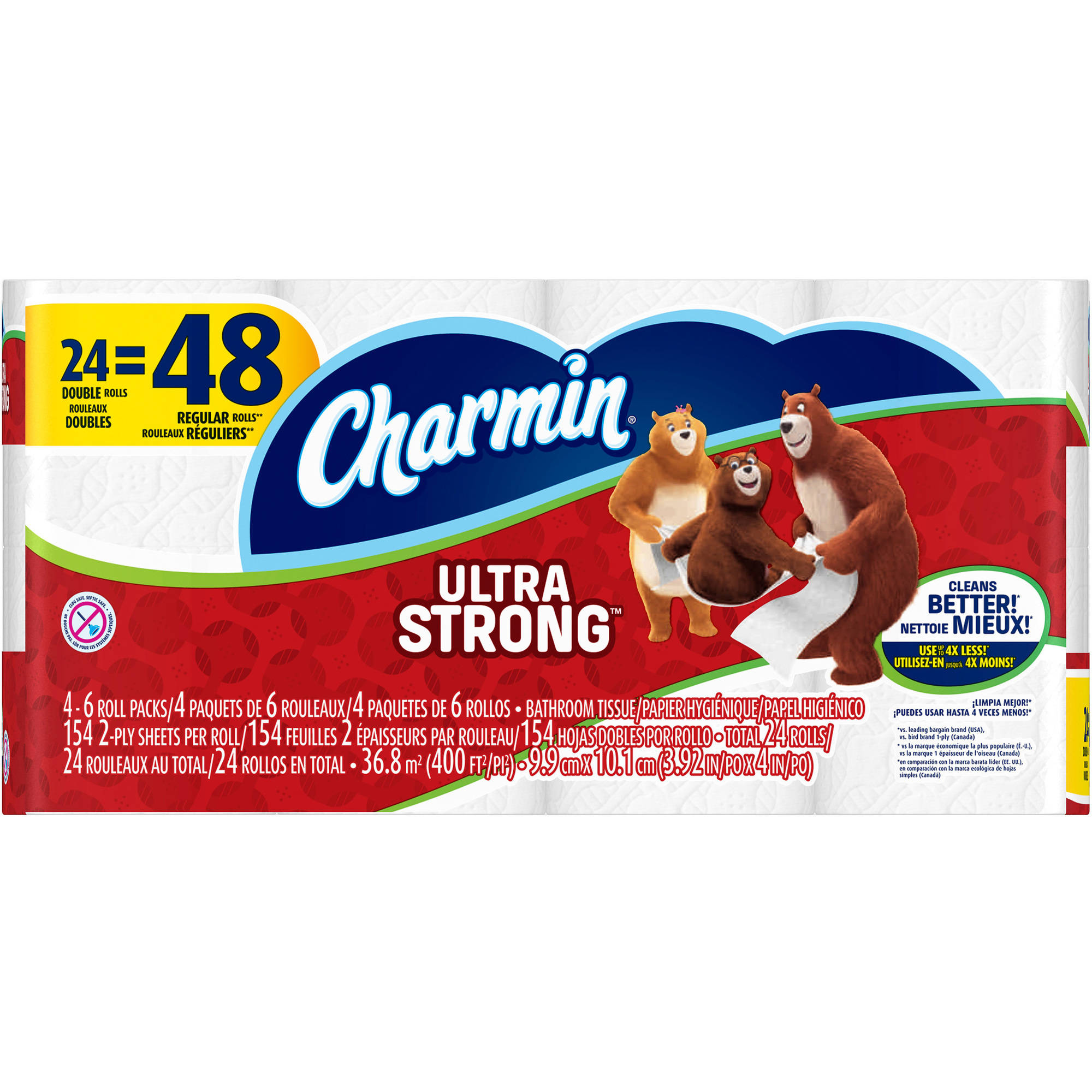 Charmin Ultra Strong Toilet Paper Double Rolls, 154 sheets, 24 rolls