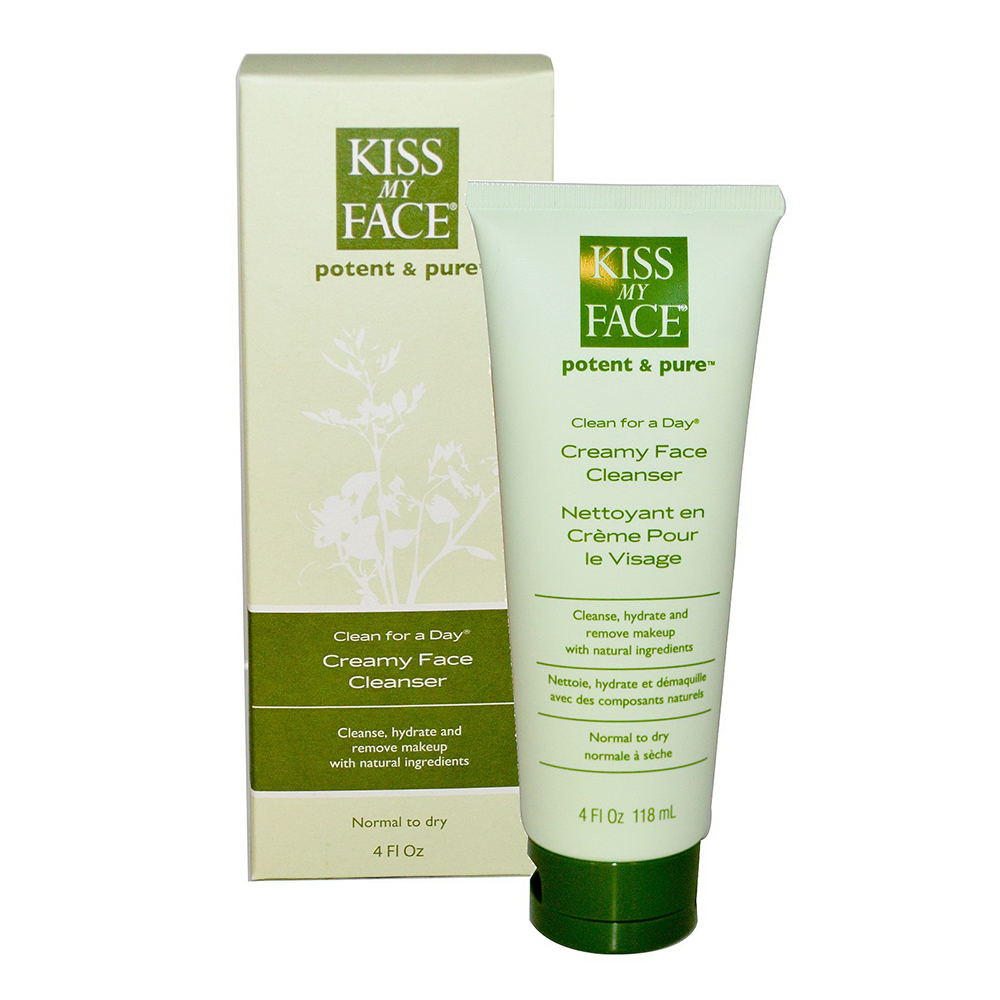 Kiss My Face Potent And Pure Clean For A Day, Normal To Dry Skin, 4 Oz
