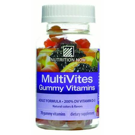 Nutrition Now Multi Vites Vitamin Gummies, Fruit, 70 Ct
