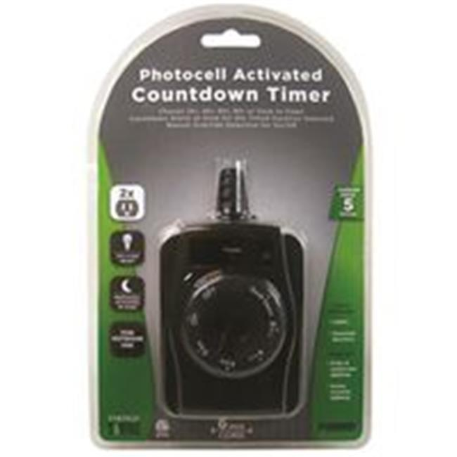 power zone timer outdoor photocell 2outlt tnocd002
