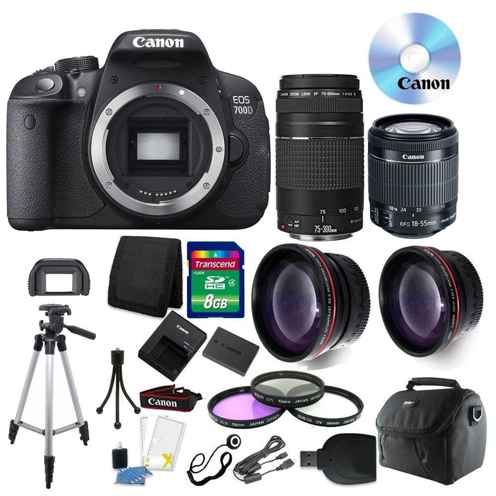 Canon EOS Rebel 700D/T5i DSLR Camera + 18-55mm + 75-300mm...