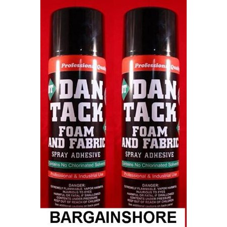 2 cans of dan tack foam speaker box carpet car auto liner and fabric spray glue adhesive. Black Bedroom Furniture Sets. Home Design Ideas