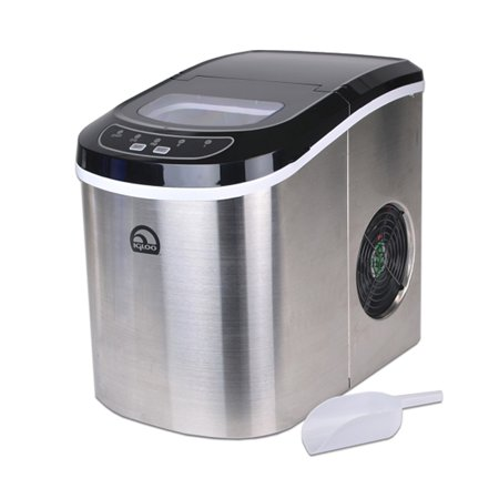 Refurbished Igloo Stainless Steel Portable Countertop Ice Maker w/ Ice Scoop - ICE105B