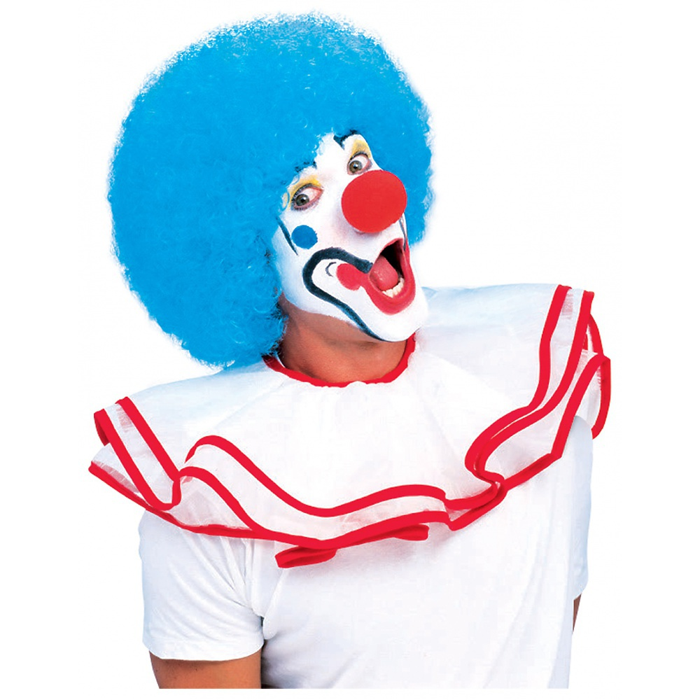 Clown Wig Adult Costume Accessory Sky Blue