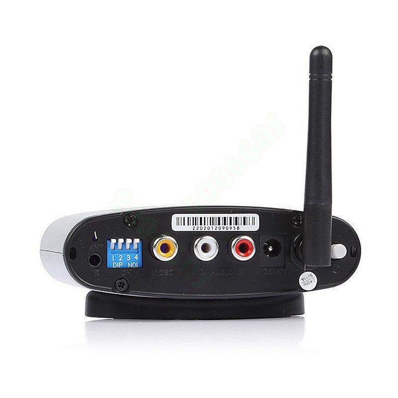2.4G Audio AV Sender IR Remote Wireless Extender Transmitter RCA Receivers New