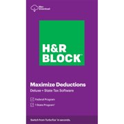 H&R Block Tax Software Deluxe + State 2020 (Mac Download)