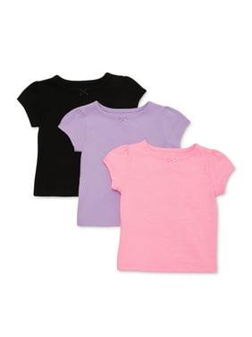 Garanimals Baby Girl Striped & Print T-Shirts, 3pk