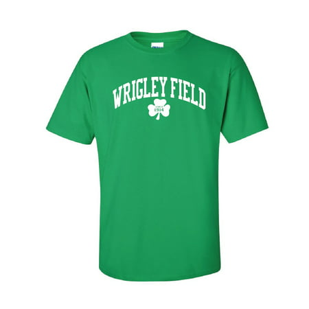 Wrigley Field Chicago T-Shirt Green Heavy Cotton CC1387 Small