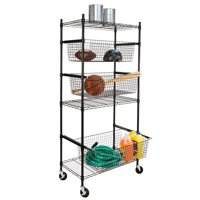 Honey Can Do All-Star Sports Shelving with wheels (Black)
