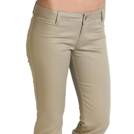 28a35f45d814c TheMogan - TheMogan Junior's Dickies Girl Slim Fit Bootcut Leg Mid Rise  Twill Uniform Pants - Walmart.com