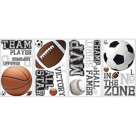 - ALL STAR SPORTS 24 BiG Wall Stickers Football Basketball Room Decor Decals RM2