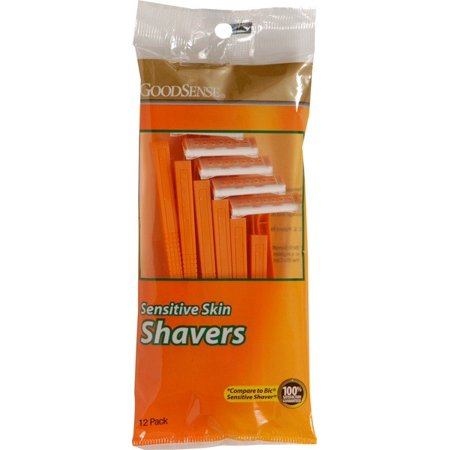 GoodSense Sensitive Skin Disposable Shaving Razors, 12