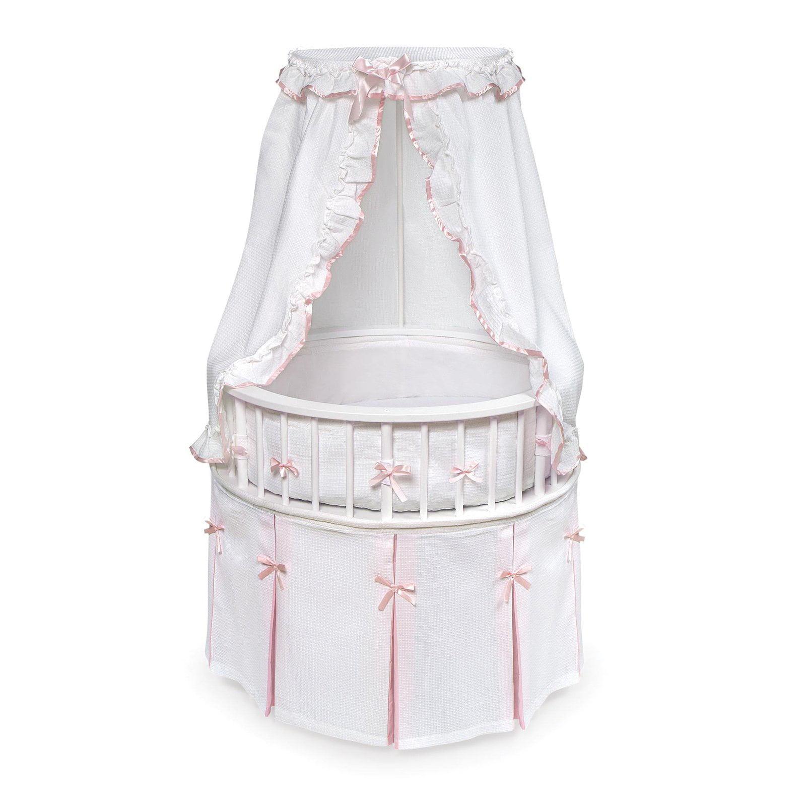 Badger Basket Elegance Bassinet, White With Sage Toile Bedding by Badger Basket