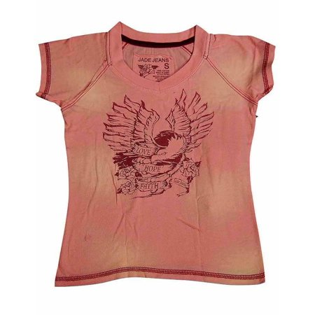 Jade - Little Girls Short Sleeved Tee Pink Eagle / 4](Girls Vine)