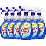 Glass Plus Glass Cleaner, 32 fl oz Bottle, Multi-Surface Glass Cleaner, 6 Pack