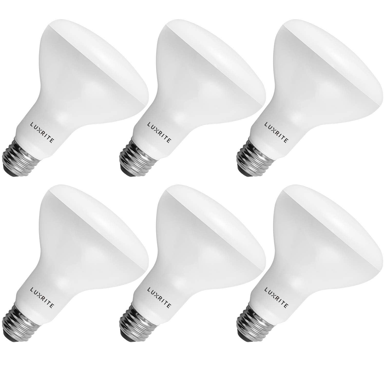 Luxrite Br30 Led Flood Light Bulb 9w 65w 4000k Cool White 650 Lumens Dimmable Ul Listed E26 Base 6 Pack Walmart Com Walmart Com
