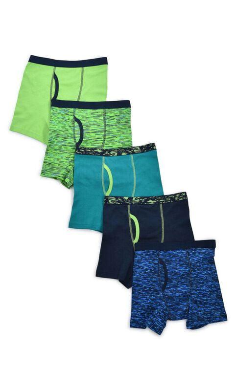 Wonder Nation Boys Underwear, 5 Pack Space Dye Boxer Brief Sizes 6/7 - 18 and Husky