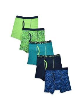Wonder Nation Boys Underwear, 5 Pack Space Dye Boxer Brief (Little Boys & Big Boys)