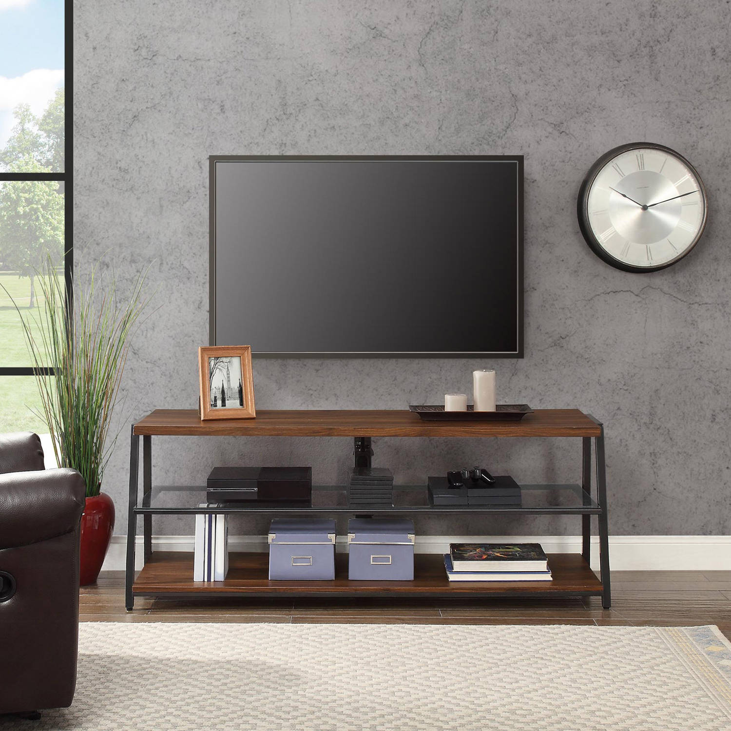 Mainstays Arris 3 In 1 Tv Stand For Televisions Up To 70 Perfect