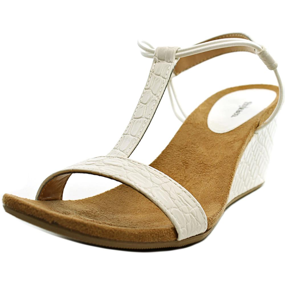 Style & Co Mulan Women  Open Toe Synthetic White Wedge Sandal