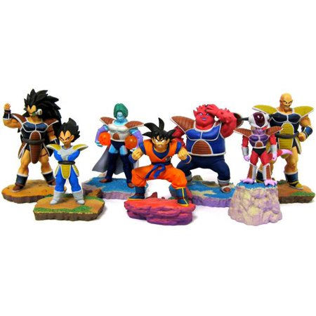 Dragon Ball Super Set of 7 FULL COLOR Rival PVC Mini Figure [Goku, Vegeta, Frieza, Nappa, Raditz, Zarbon and Dodoria] ()