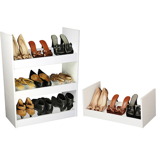 Stackable Shoe Cabinet, White