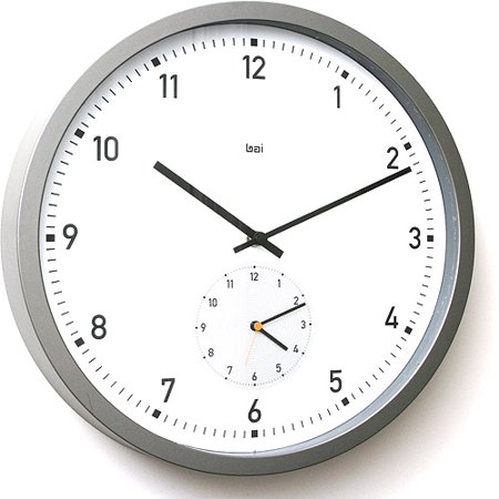 Here and there dual time wall clock walmartcom for Dual time wall clock