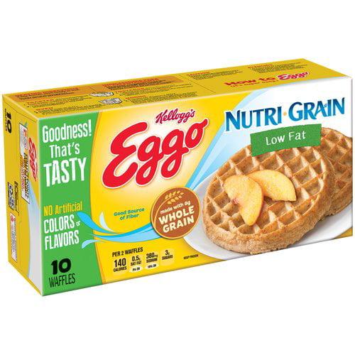 Kellogg's Eggo Nutri-Grain Low Fat Waffles, 10 count, 12.3 oz