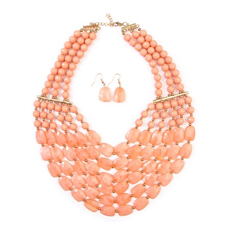 RIAH FASHION BEADED STATEMENT NECKLACE - Beaded Necklaces