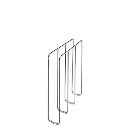 Chrome Home Single - Rev-A-Shelf - 596-10CR-52 - Single U-Shape Chrome Bakeware and Tray Divider, (1) Chrome organizer with mounting hardware By RevAShelf