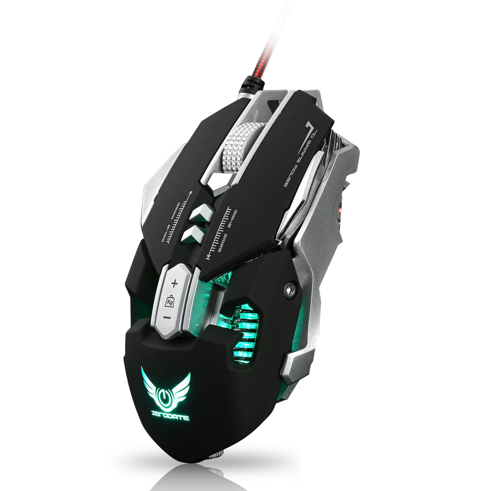 Wired Gaming Mouse, TSV X300 RGB Mechanical Gaming Mouse with LED Lighting Wired USB Gaming Mice 7 Buttons 4000 DPI Optical Gaming Sensor