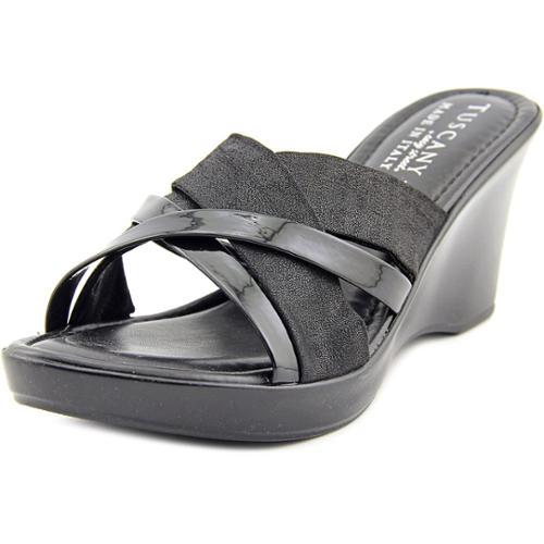 Easy Street Biella Women Open Toe Synthetic Wedge Sandal by Easy Street
