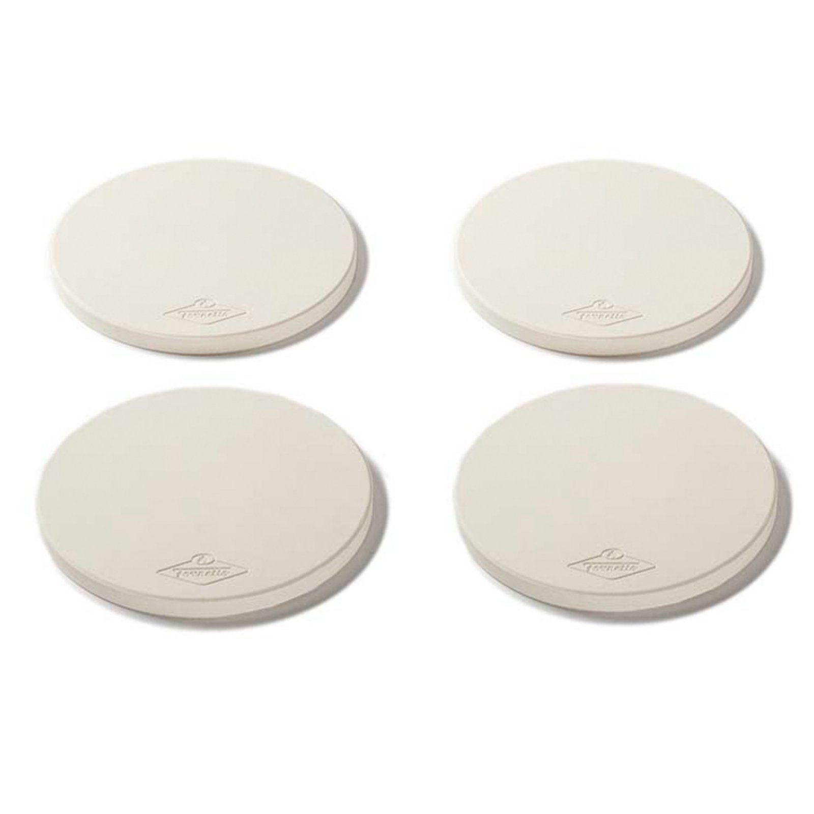 Fornetto 8 in. Round Mini Pizza Stone Set of 4 by