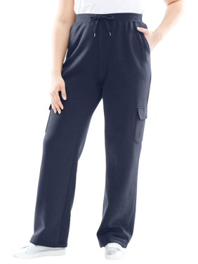 a6168025be42d Product Image Woman Within Plus Size Tall Better Fleece Cargo Sweatpant