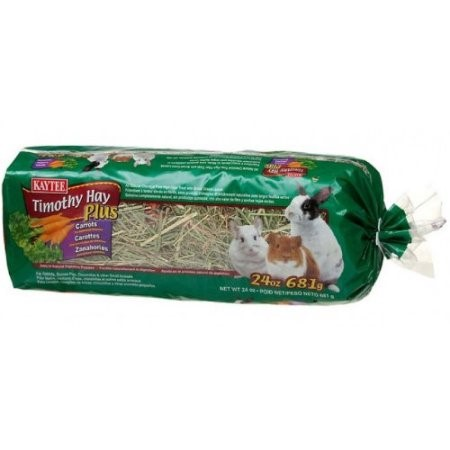 Kaytee Timothy Hay Plus Carrots Small Animal Food, 48 Oz