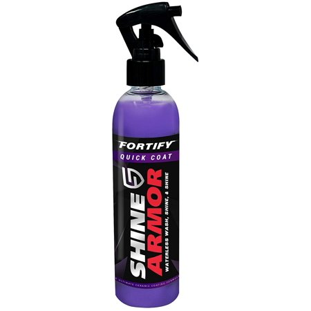 Shine Armor Fortify Quick Coat – Ceramic Coating - Car Wax Spray - Waterless Car Wash & Wax - Hydrophobic Top Coat Polish & Polymer Paint Sealant (Best Car Polish And Wax For Black Cars)